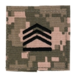 Army ROTC Staff Sergeant with Velcro Backing (Digital All Terrain)