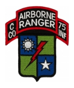 Airborne Rangers C 75  C Company 75th INF Patch