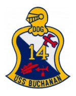 USS Buchanan DDG-14 Ship Patch