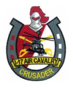1/17 Air Cavalry Regiment Crusader Patch