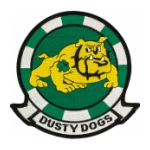 Navy Helicopter Anti-Submarine Squadron Patch HS-7 Dusty Dogs