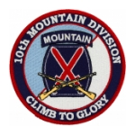 "10th Mountain Division ""Climb To Glory"" Patch"