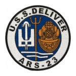 USS Deliver ARS-23 Helmet Ship Patch