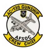 AC-130 Gunship Crew Chief Patch