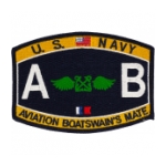 USN RATE AB Aviation Boatswains Mate Patch