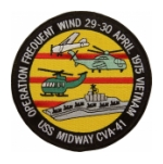 USS Midway CVA-41 Operation Frequent Wind Vietnam  Ship Patch