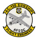 AC-130 AFSOC Gunship Flight Engineer Patch