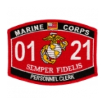 USMC MOS 0121 Personnel Clerk Patch