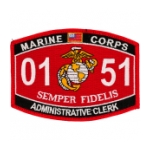 USMC MOS 0151 Administrative Clerk Patch