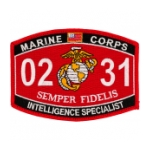 USMC MOS 0231 Intelligence Specialist Patch