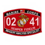 USMC MOS 0241 Imagery Analysis Specialist Patch