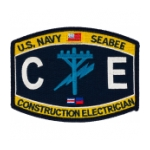 USN RATE Seabee CE Construction Electrician Patch