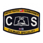 USN RATE Submariner CS Culinary Specialist Patch