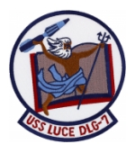 USS Luce DLG-7 Ship Patch