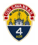 USS Savannah AOR-4 Ship Patch
