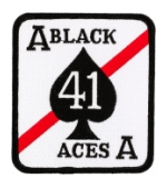 Navy Strike Fighter Squadron VFA-41 Black Aces Patch