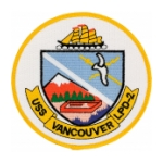 USS Vancouver LPD-2 Ship Patch