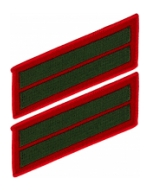 Marine Corps Service Stripes - Double (Red/Green)
