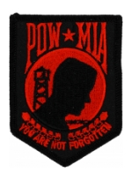 POW * MIA Patch (Black & Red - Small)