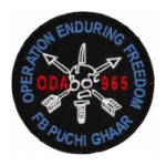 Special Forces ODA-965 OIF Patch(Hook Closure Backing)