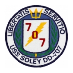 USS Soley DD-707 Ship Patch