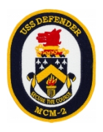 USS Defender MCM-2 Ship Patch