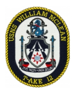 USNS William McLean T-AKE-12 Patch