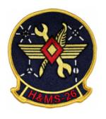 Marine Headquarters and Maintenance Squadron H&MS -26 Patch