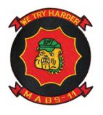 Marine Air Base Squardron MABS-11 Patch