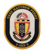 USNS Mathew Perry T-AKE-9 Patch