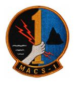 Marine Air Control Squadron MACS-1 Patch