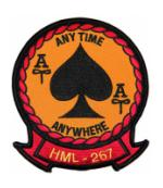 Marine Light Helicopter Squadron HML-267 Patch (ANY TIME ANYWHERE)