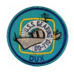 USS Gearing DD-710 Ship Patch