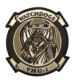 Marine Unmanned Aerial Vehicle Squadron VMU-1 Patch(Desert)