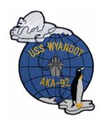 USS Wyandot AKA-92 Ship Patch