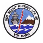 USS Mount Whitney LCC-20 Ship Patch