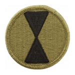 7th Infantry Division Scorpion / OCP Patch With Hook Fastener