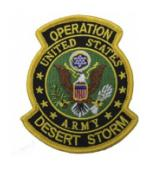 Operation Desert Storm Patch U.S.  Army