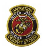 Operation Desert Storm Patch U.S. Marine Corps