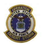 Operation Desert Storm Patch U.S. Air Force