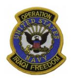 Operation Iraqi Freedom Patch U.S. Navy