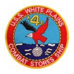 USS White Plains AFS-4 Ship Patch