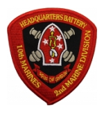 Headquarters Battalion 10th Marines Patch