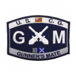 USCG MOS GM Gunner's Mate Patch