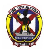 USS Tuscaloosa LST-1187 Ship Patch