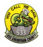 USS Cheboygan County LST-533 Ship Patch