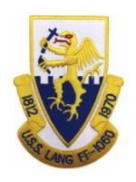 USS Lang FF-1060 Ship patch