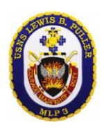 USNS Lewis B. Puller MLP-3 Ship Patch