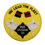 Navy Mine Division 33 Ship Patch