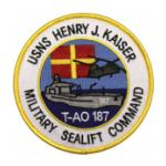 USNS Henry J. Kaiser T-AO 187 Ship Patch